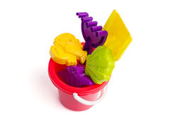 Baby toy bucket and shovel rake Stock Image