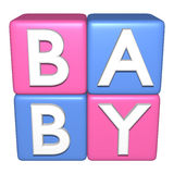 Baby Toy Building Blocks. Isolated Royalty Free Stock Photo
