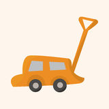 Baby toy car theme elements Royalty Free Stock Image
