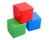 Baby  toy. color cubes Stock Photo