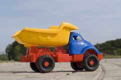 Baby toy dump truck Royalty Free Stock Image