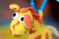 Baby toy giraffe. Of a baby floor mobile royalty free stock images