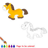 Baby toy horse. Kid game. Royalty Free Stock Photos