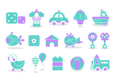 Baby Toy icon 01. Simple icons related to children such as playground and toy Royalty Free Stock Photo