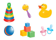 Baby toy icon set Royalty Free Stock Image