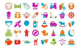 Baby toy icons buttons  set Royalty Free Stock Photos
