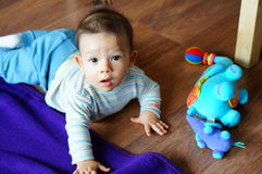 Baby and toy stock photography