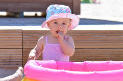 Baby and toy pool Royalty Free Stock Photography