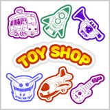 Baby toy set. Cute object for small children. royalty free illustration