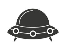 Baby toy spaceship isolated icon design Stock Photography
