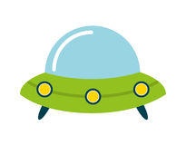 Baby toy spaceship isolated icon design Royalty Free Stock Image
