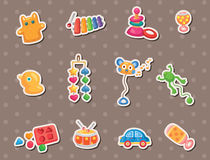 Baby toy stickers. Cute cartoon vector illusttration Stock Photos