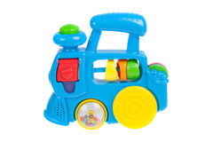 Baby toy train, isolated Royalty Free Stock Image