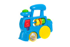 Baby toy train, isolated Stock Photos