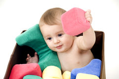 Baby with Toys Royalty Free Stock Photography