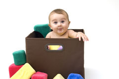Baby with Toys Royalty Free Stock Photos