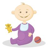 Baby with a toys Royalty Free Stock Images
