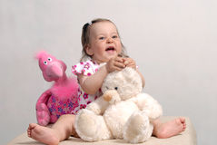 Baby and Toys Stock Images