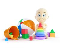 Baby toys beach ball, pyramid Royalty Free Stock Photo