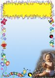 Baby toys border Royalty Free Stock Images