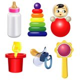 Baby toys of bright color Stock Photography