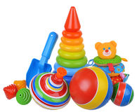 Baby toys composition Royalty Free Stock Photos