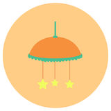 Baby toys cute icon in trendy flat style isolated on color background. Baby symbol for your design, logo, UI. Vector illustration, Royalty Free Stock Image