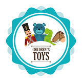 Baby toys design. royalty free illustration