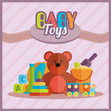 Baby toys flat icon set vector Royalty Free Stock Images