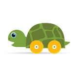 Baby toys green turtle illustration Royalty Free Stock Image