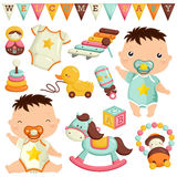 Baby and toys Stock Photos