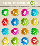 Baby toys icon set. Baby toys  icons for user interface design Stock Photos