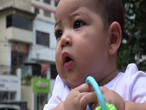 Baby With Toys, Infant Toys, Newborn Playing stock footage
