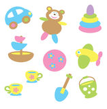 Baby toys in pastel tone Royalty Free Stock Image