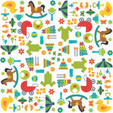 Baby toys pattern Stock Image