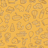 Baby toys pattern. Royalty Free Stock Photography
