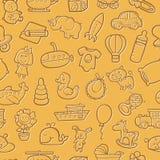Baby toys pattern. stock illustration