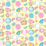 Baby toys seamless pattern. Royalty Free Stock Image