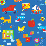 Baby toys seamless pattern Royalty Free Stock Image