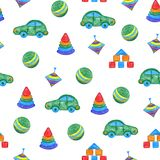 Baby toys hand drawing royalty free illustration