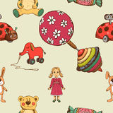 Baby toys seamless pattern Royalty Free Stock Photo