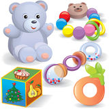 Baby toys set vector illustration