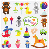 Baby toys set collection Stock Photo