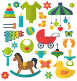 Baby toys set Royalty Free Stock Image