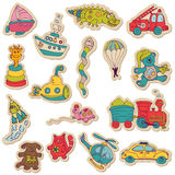 Baby Toys Stickers - for design and scrapbook Stock Image