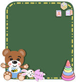 Baby toys vector/illustration . Toys background. Stock Images