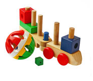 Baby toys on a white background Royalty Free Stock Photography