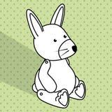 Baby toys white cartoon icon Royalty Free Stock Image