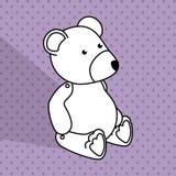 Baby toys white cartoon icon Stock Photography