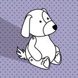 Baby toys white cartoon icon Stock Photo